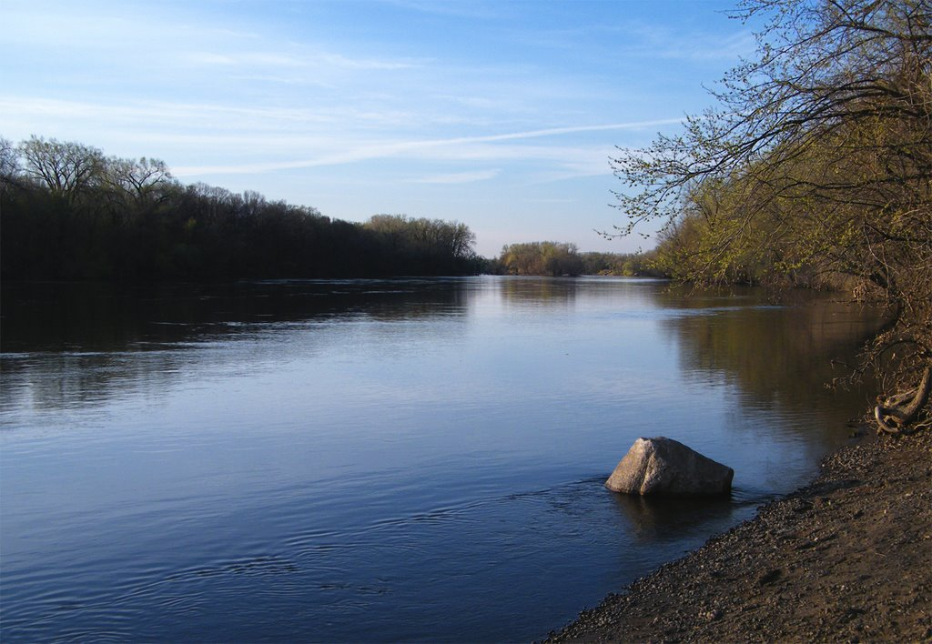 Mississippi River from Islands of Peace County Park, Fridley, Minnesota