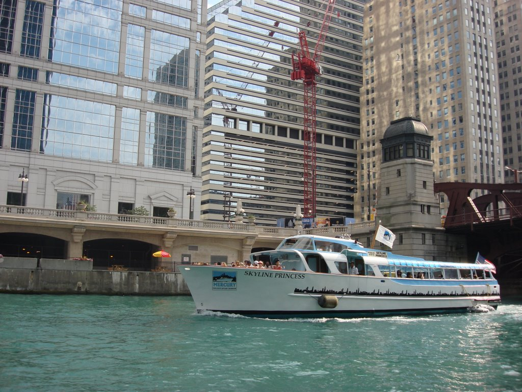 Tourist Boat on Chicago River