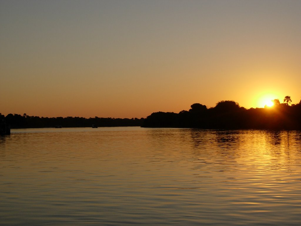 Sunset at Zambezi River, Victoria Falls