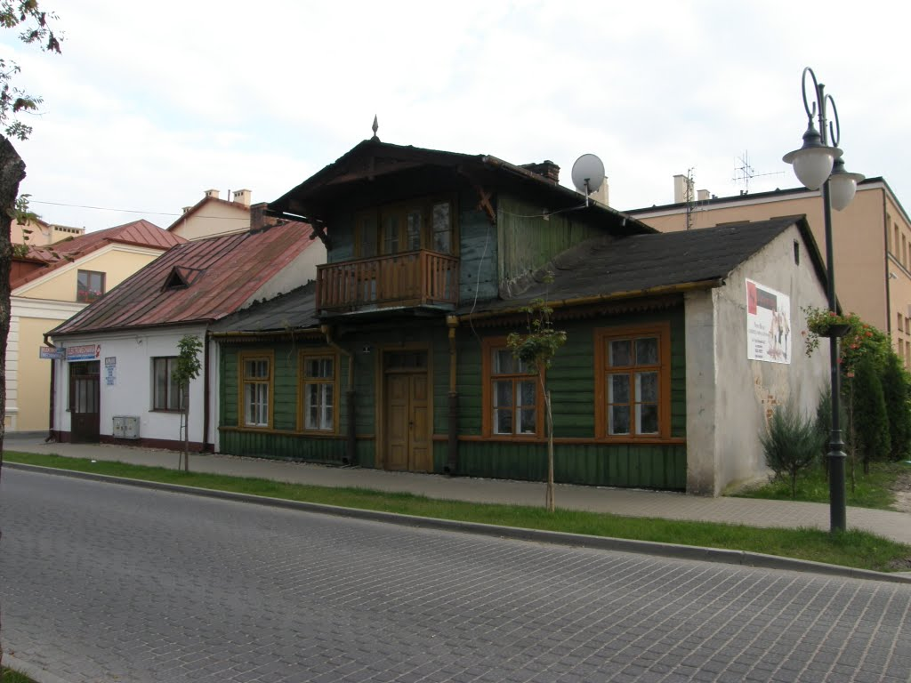 Old wooden house in Włodawa