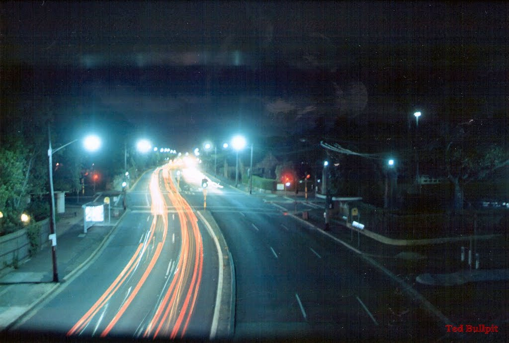 City Road towards Newtown from the old City Road Bridge 1992