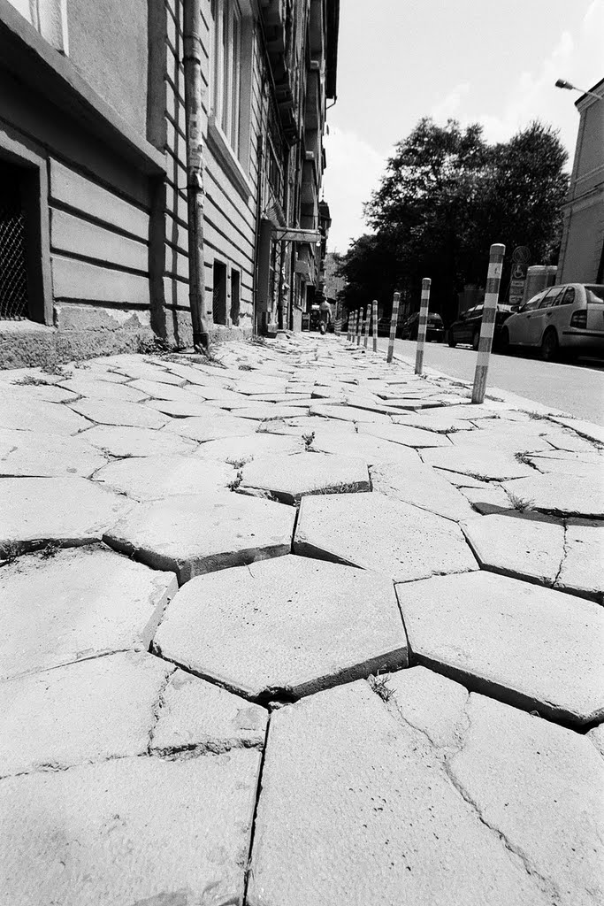 Sea resembling pavement in Sofia street. What a walk!