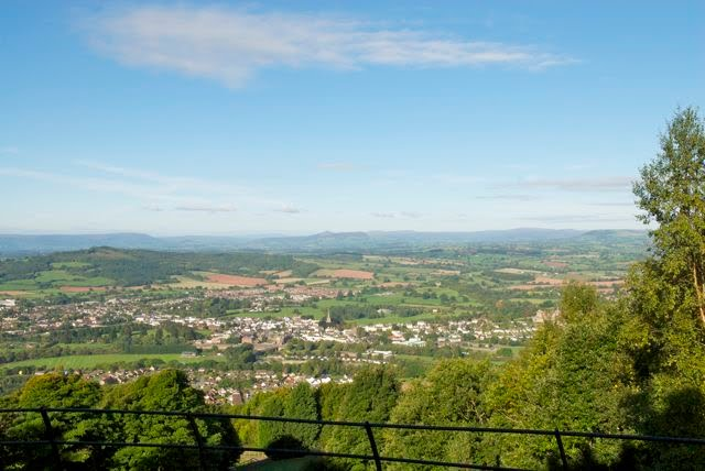 Kymin - Above Monmouth to the Black mountains