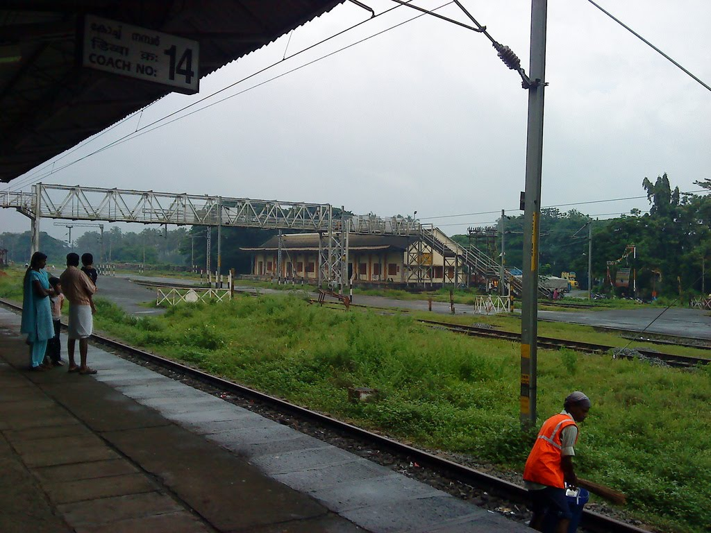 Beautiful Thrissur Railway Station - Plat Form NO - 3