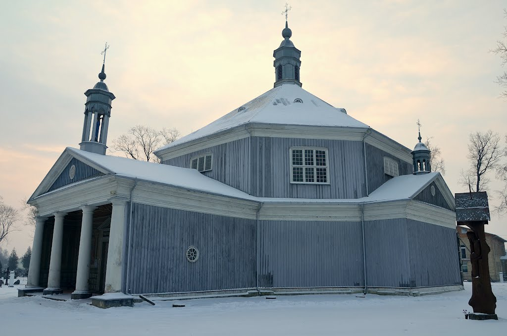 The octagonal ( only one in Lithuania ) wooden Griškabūdis Transfiguration of Christ Church, built in 1796.