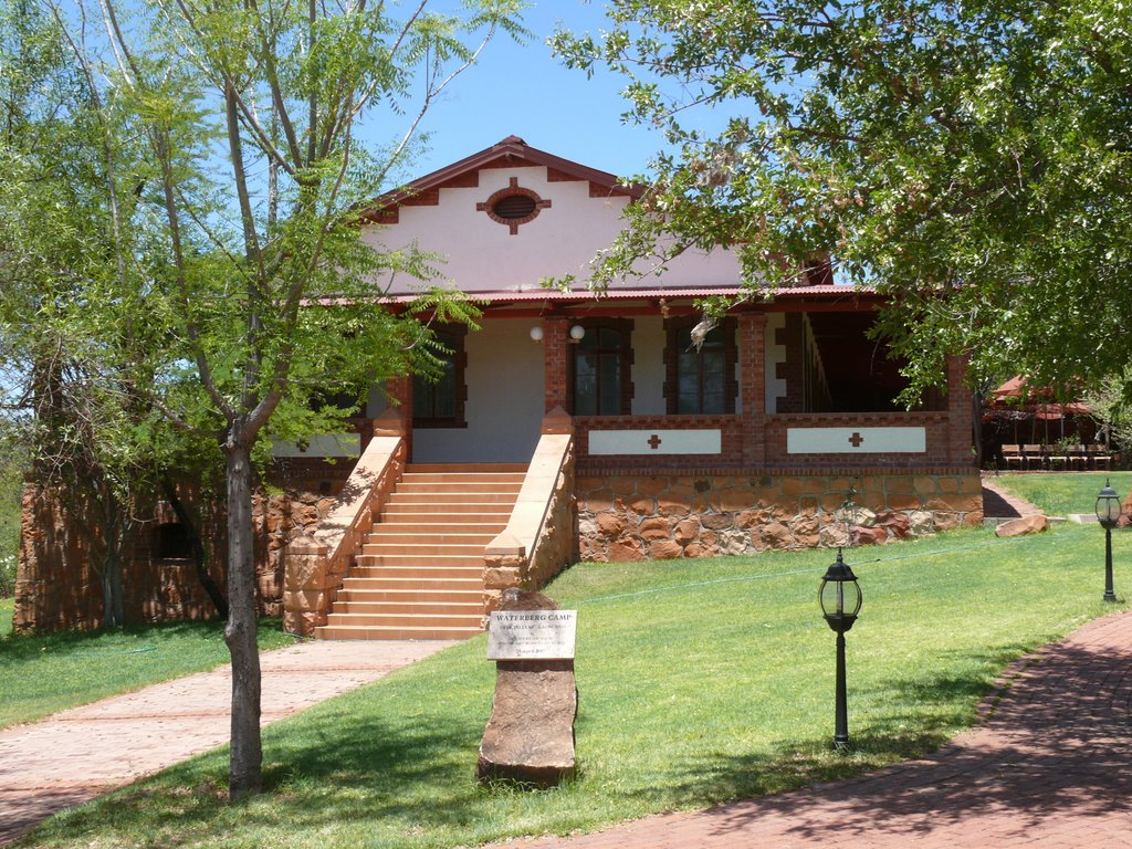 Namibia, Waterberg-Park Restaurant, former German Colonial Police Station