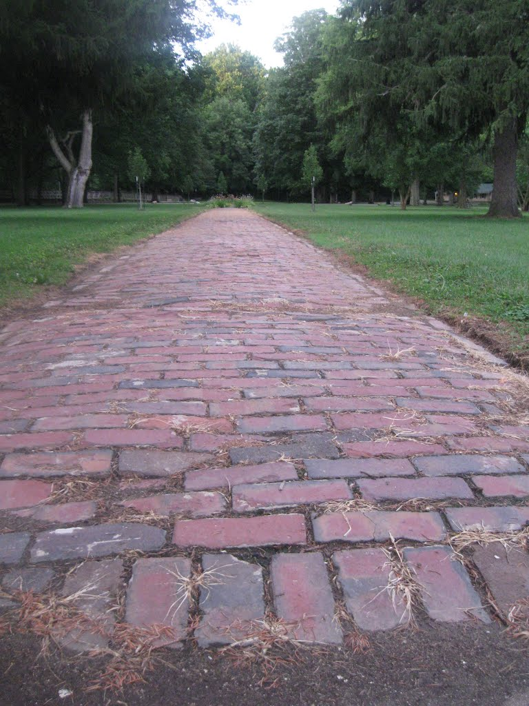 Riley Park - Brick Path